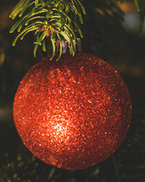 Red Ball, Christmas decoration, Christmas tree