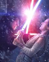 Rey Kylo Ren Lightsaber Fight