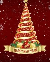Happy New Year Christmas Tree