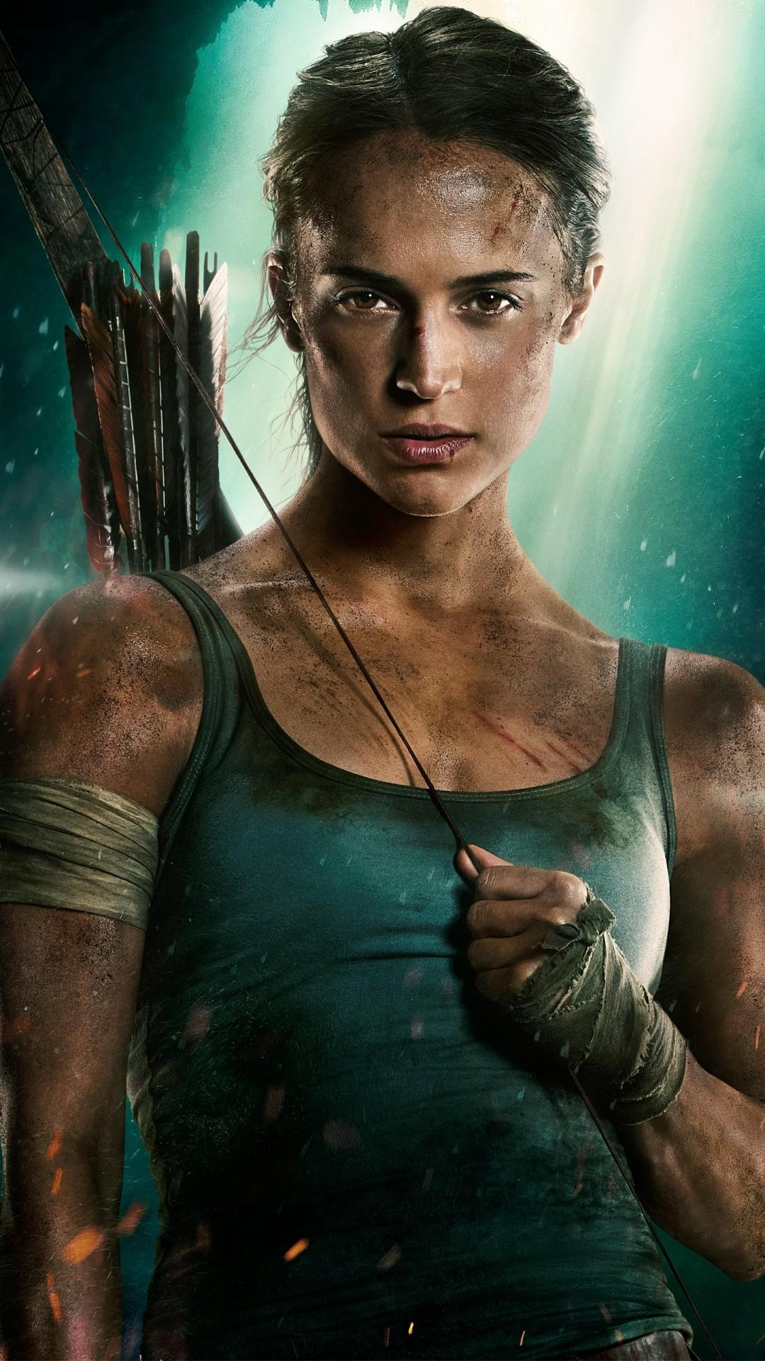 Free Lara Croft Tomb Raider Alicia Vikander phone wallpaper by cmooremusic