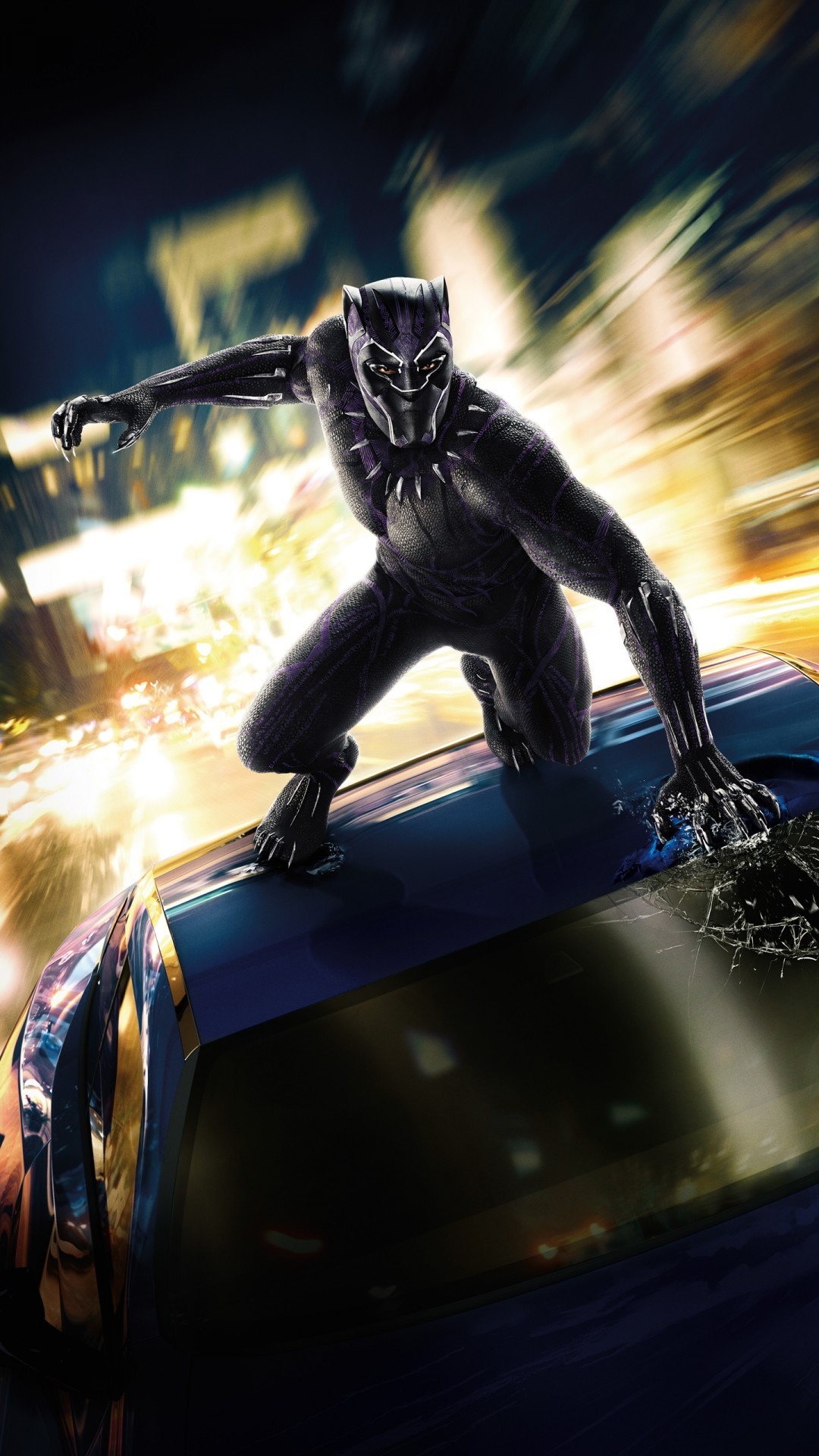 Free Black Panther Movie phone wallpaper by momo007