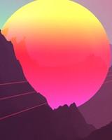 Neon Sunset Mountains