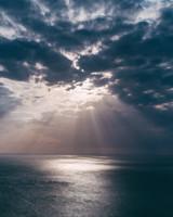 Sea, Sky, Clouds, Light, Horizon