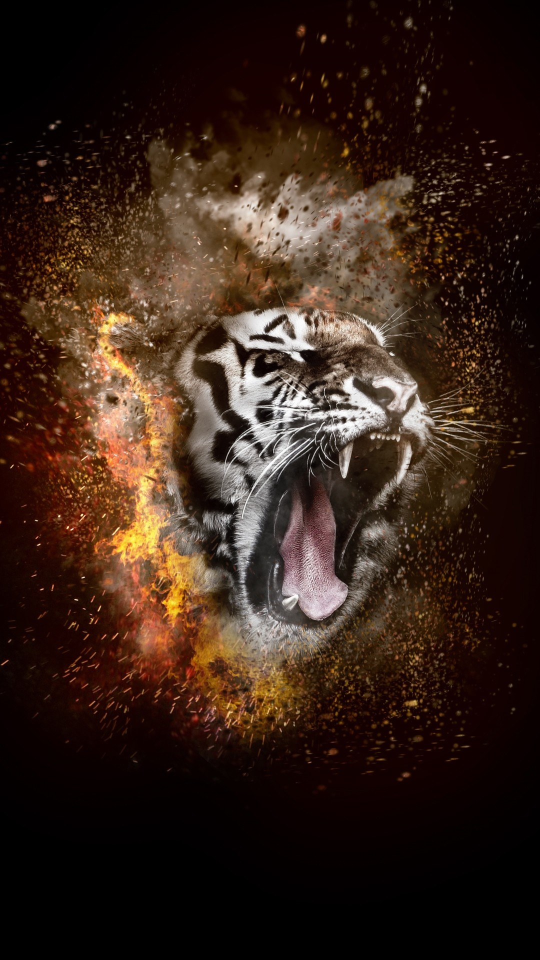 Free Tiger Fire Phone Wallpaper By Aquariangyrl89