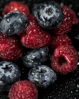 Raspberries, Blueberries, Berries, Drops