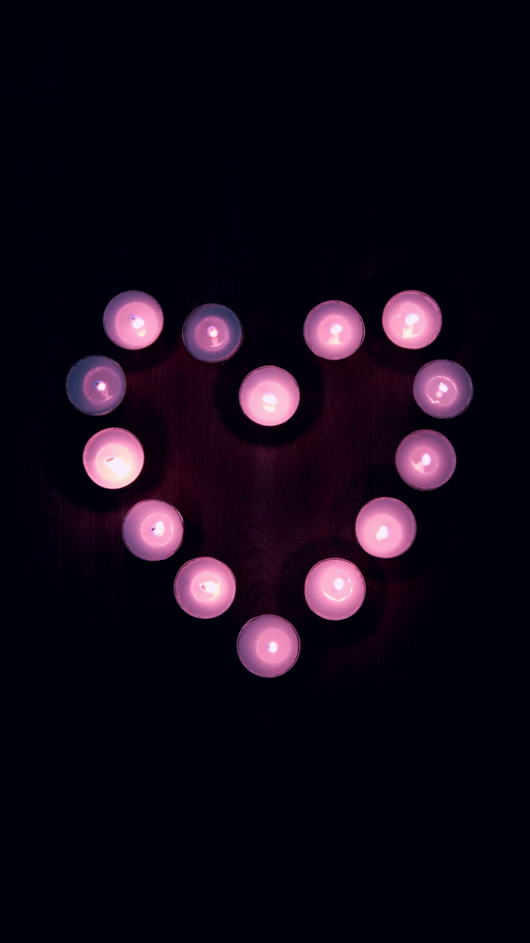 Free Candles, Heart, Light phone wallpaper by miznic
