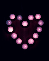 Candles, Heart, Light
