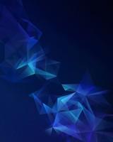 Samsung Galaxy S9 Blue Lowpoly