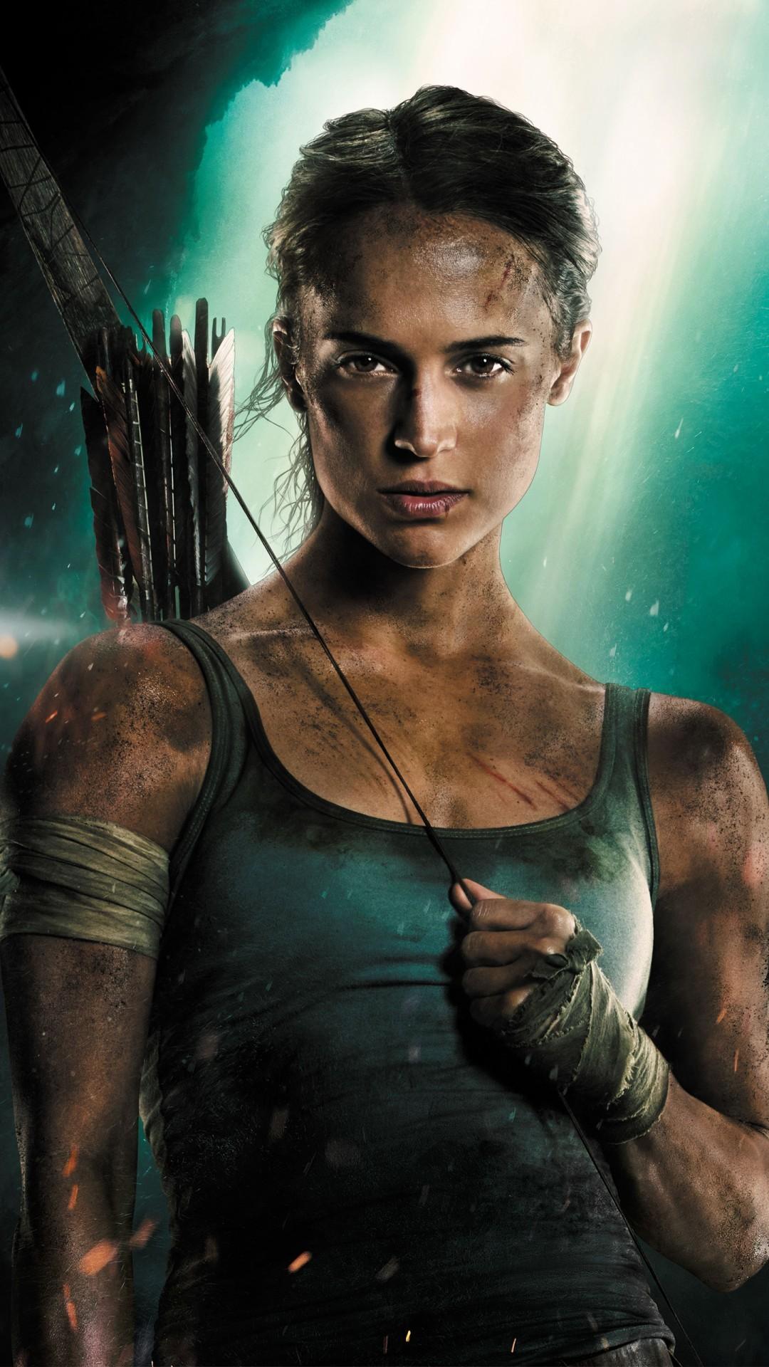 Free Alicia Vikander Lara Croft Tomb Raider phone wallpaper by chubbs269
