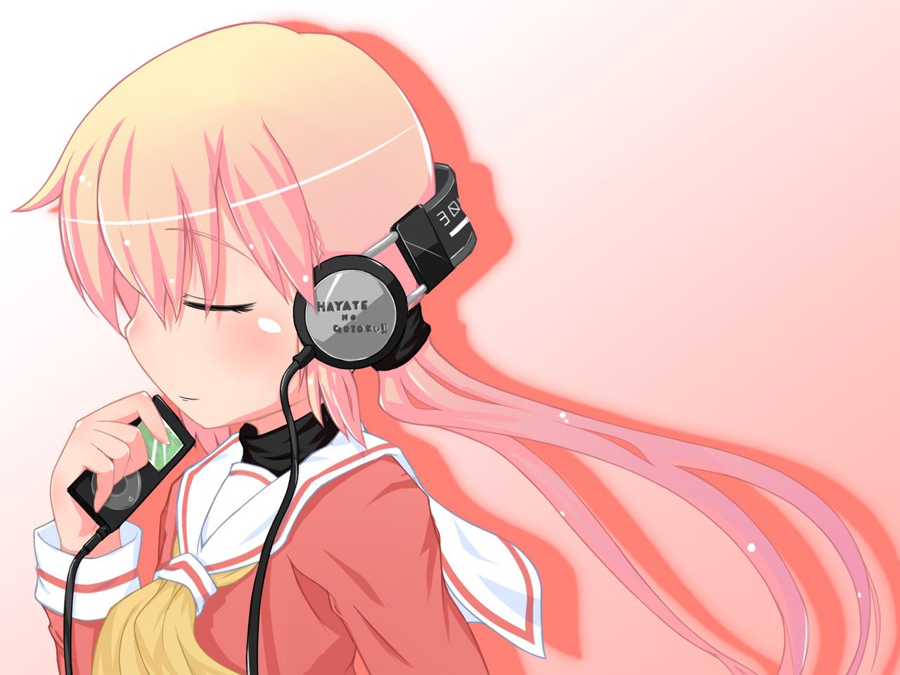 Free anime girl music phone wallpaper by ash_ketchump