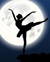 Ballerina, Silhouette, Moon, Dance