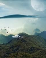 Mountains Landscape Moon
