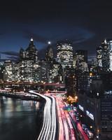 Manhattan New York City Night Cityscape