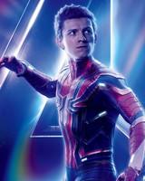 Tom Holland as Spider Man Avengers Infinity War