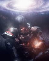 Commander Shepard Spiral galaxy