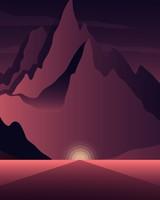 Sunset Mountains Minimal
