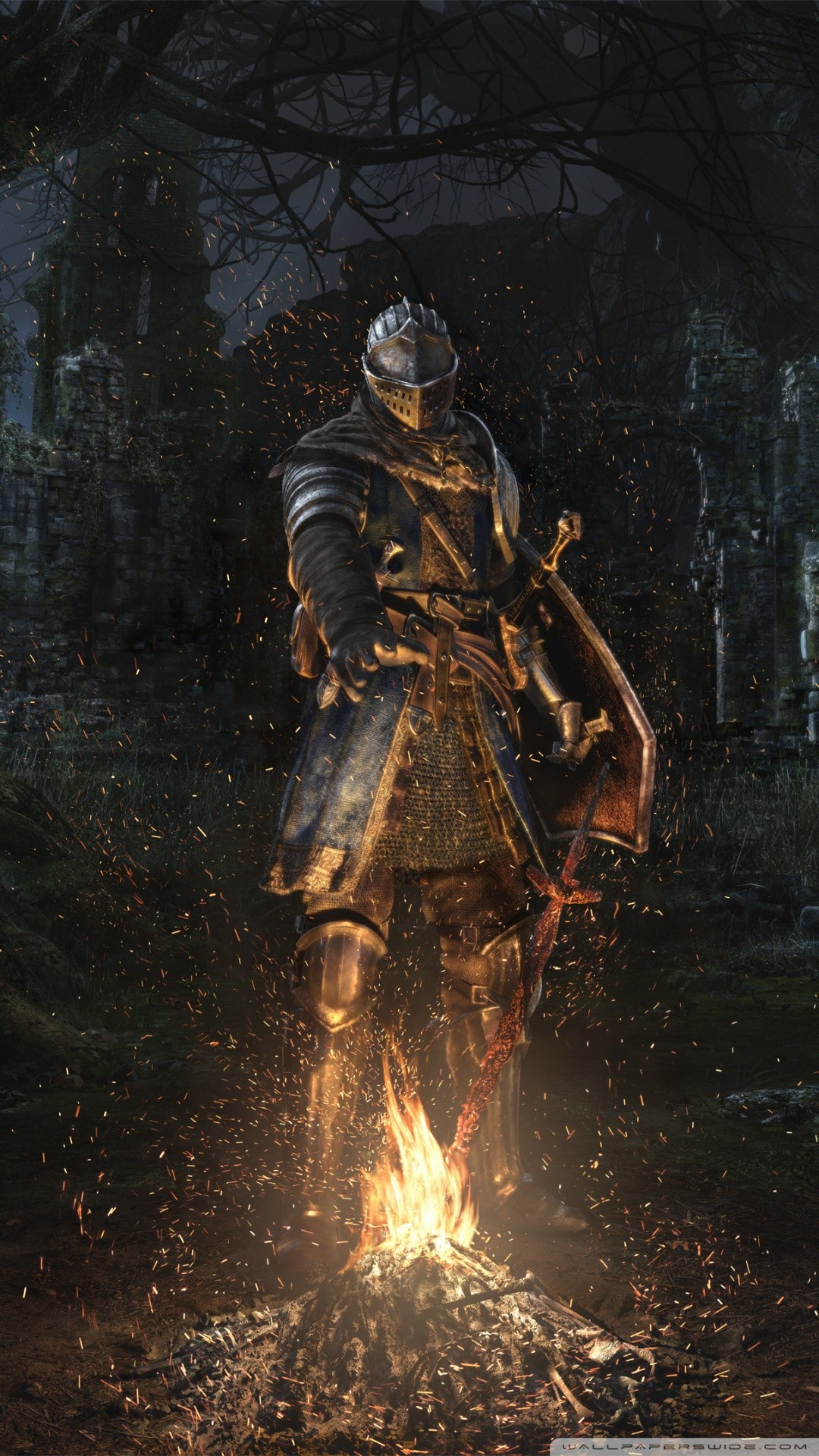 Free Dark Souls Remastered 2018 video game phone wallpaper by dayzired