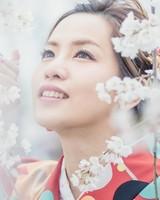 Japanese girl with Sakura