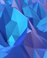 Low Poly Mountain Blue Shades