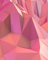 Low Poly Pink Mountain