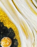 Gold Powder, White Oil Paint