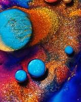 Glitter Paint Bubbles Macro