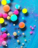 Bright Vibrant Colors Paint Bubbles