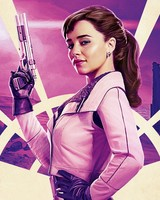 Emilia Clarke as Qi'Ra in Solo A Star Wars Story