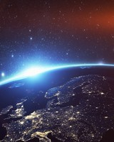 Europe Night Earth