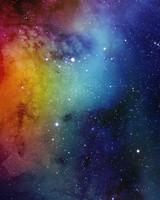 Spacescape Watercolor Painting
