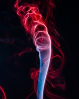 Colored smoke, shroud, bunches, red, black