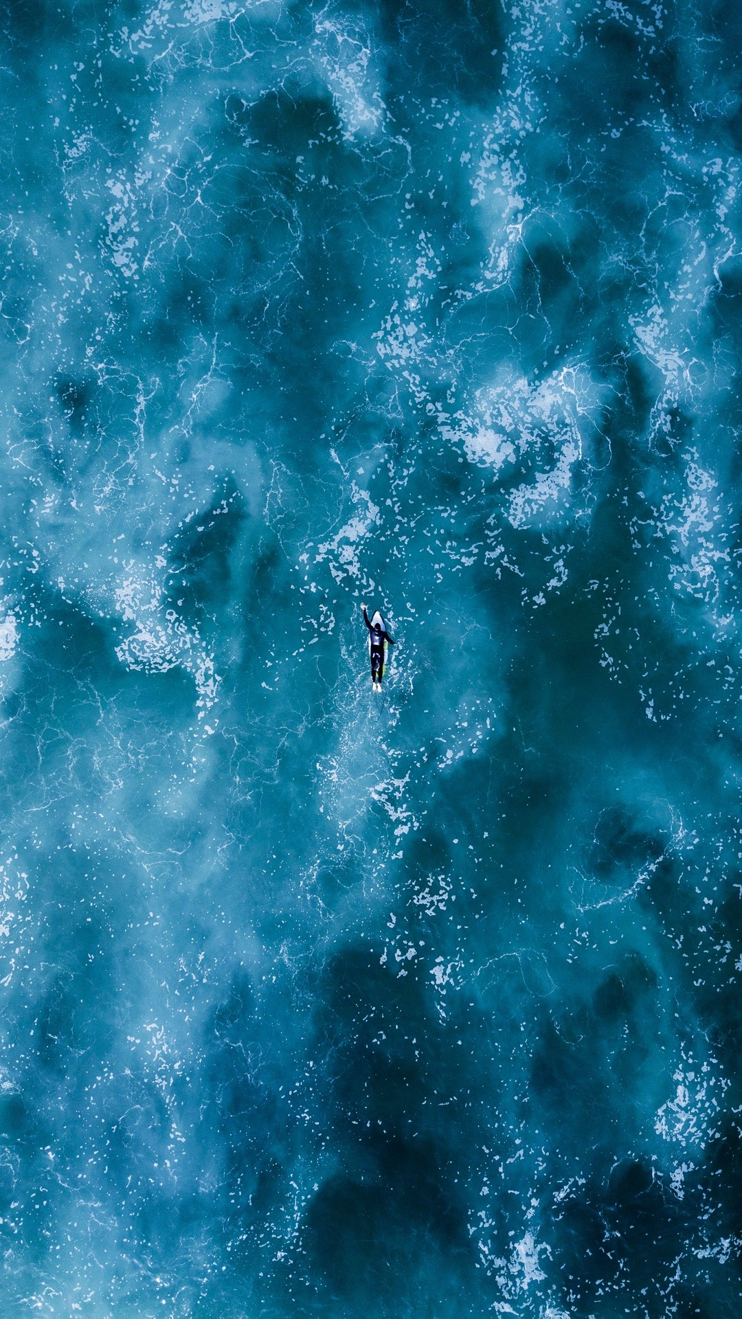 Free Surfing, ocean, waves, top view phone wallpaper by robin3958