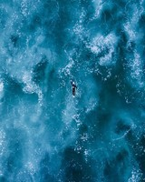 Surfing, ocean, waves, top view wallpaper 1