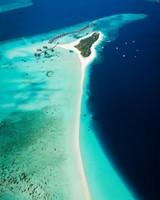 Maldives, island, ocean, top view, tropics