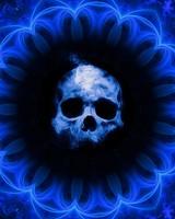 Skull, gothic, patterns, blue, dark