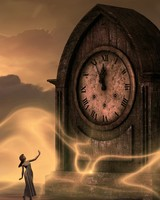 Clock, fantasy, mysterious, girl, time