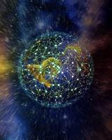 Planet, earth, plexus, nets, space