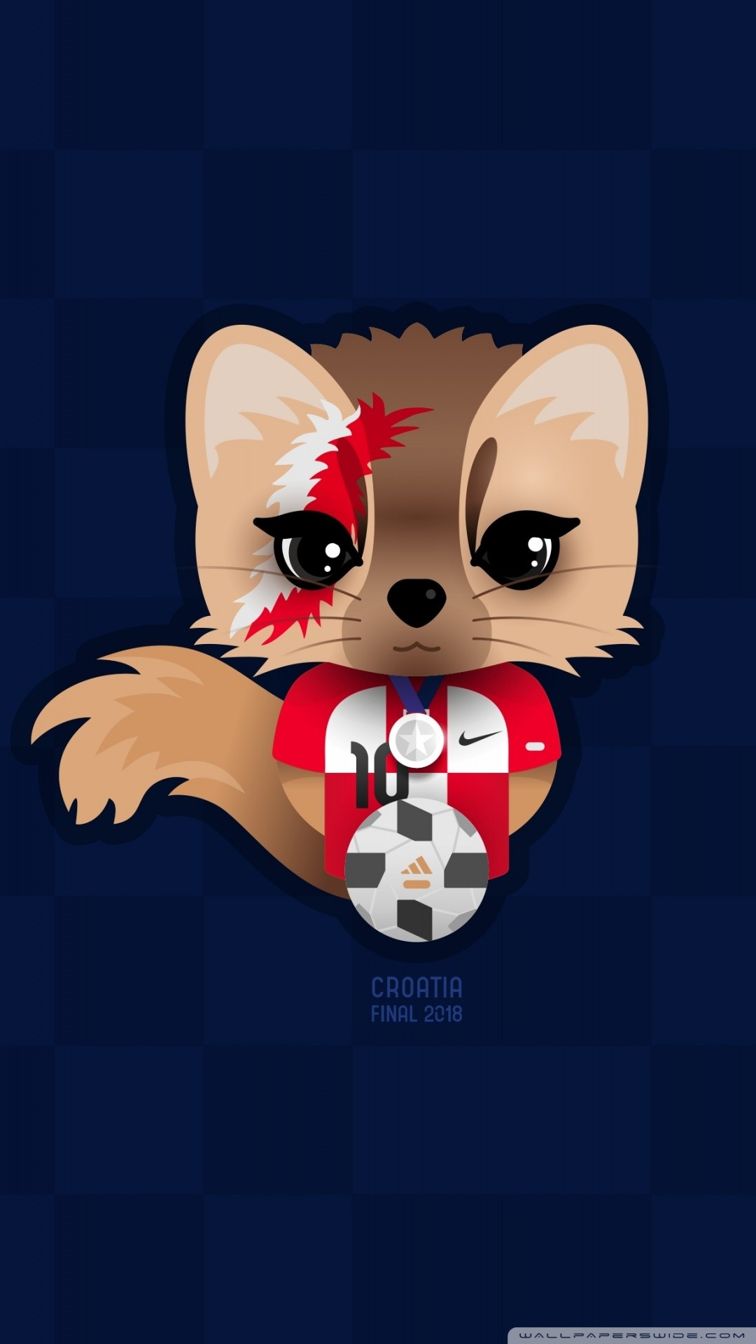 Free Croatia Football Character Design phone wallpaper by camn50