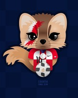 Croatia Football Character Design wallpaper 1