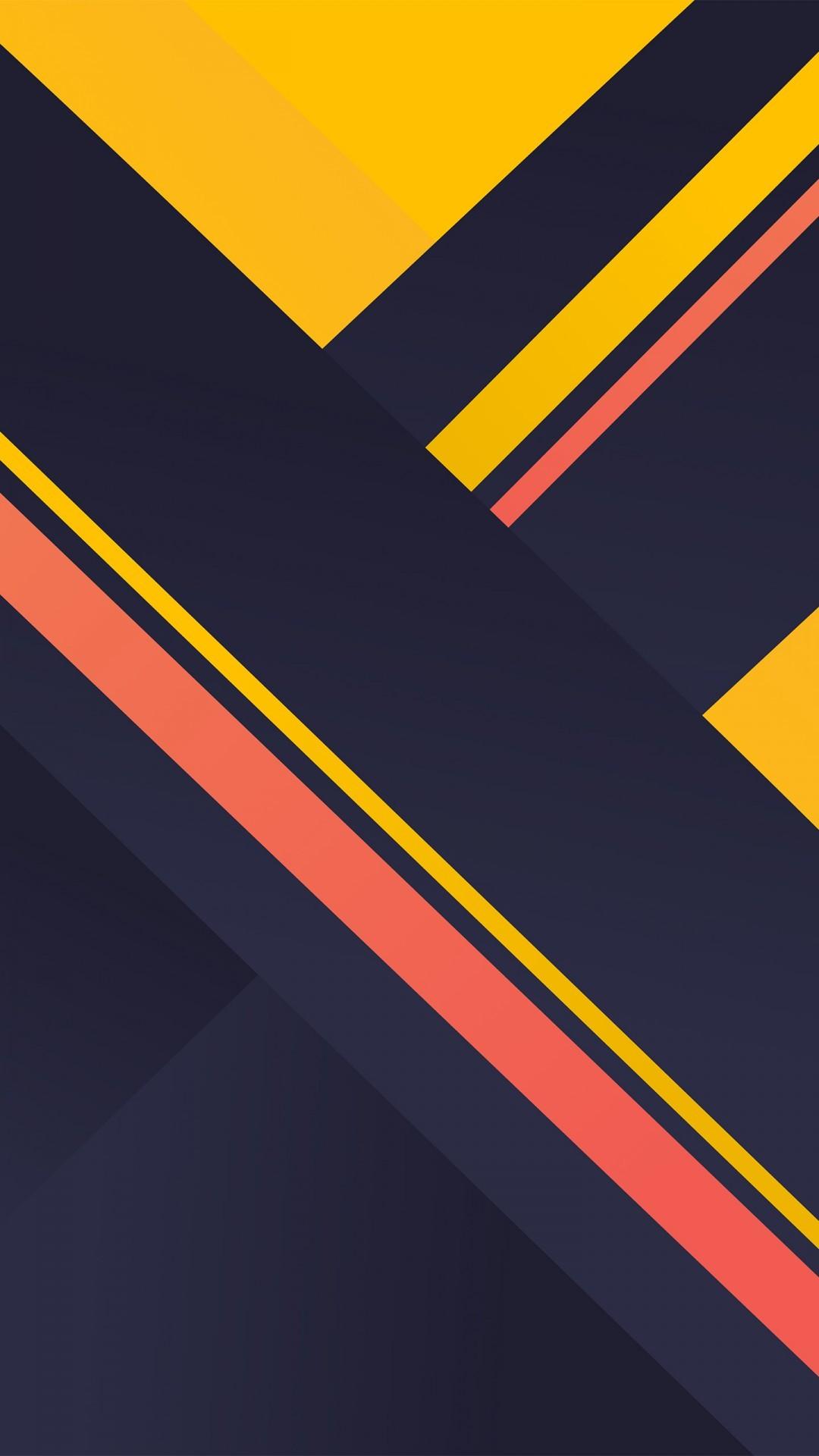 Free Yellow Stripes Material Design phone wallpaper by squarebush