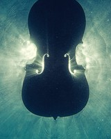 Wooden Cello Underwater