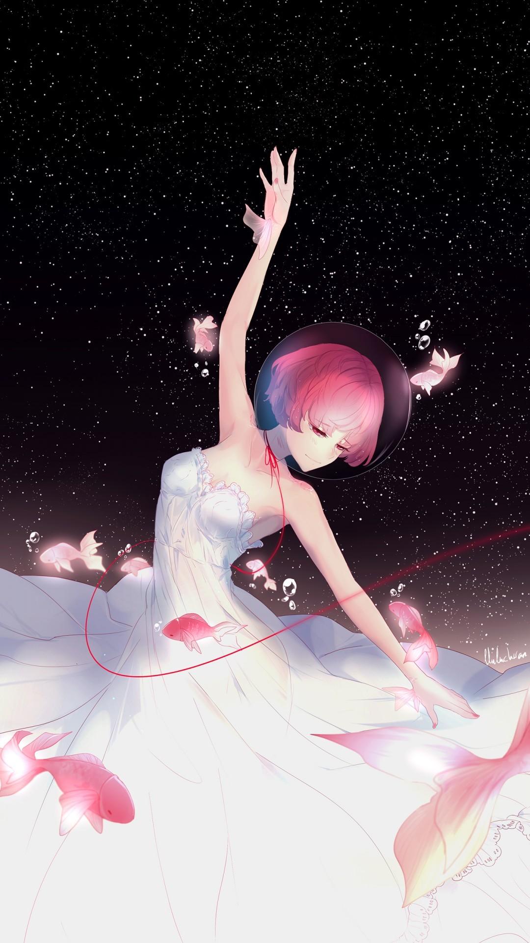 Free Anime girl Night Dance phone wallpaper by alejandro2