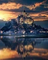 Mont-Saint-Michel Island Castle