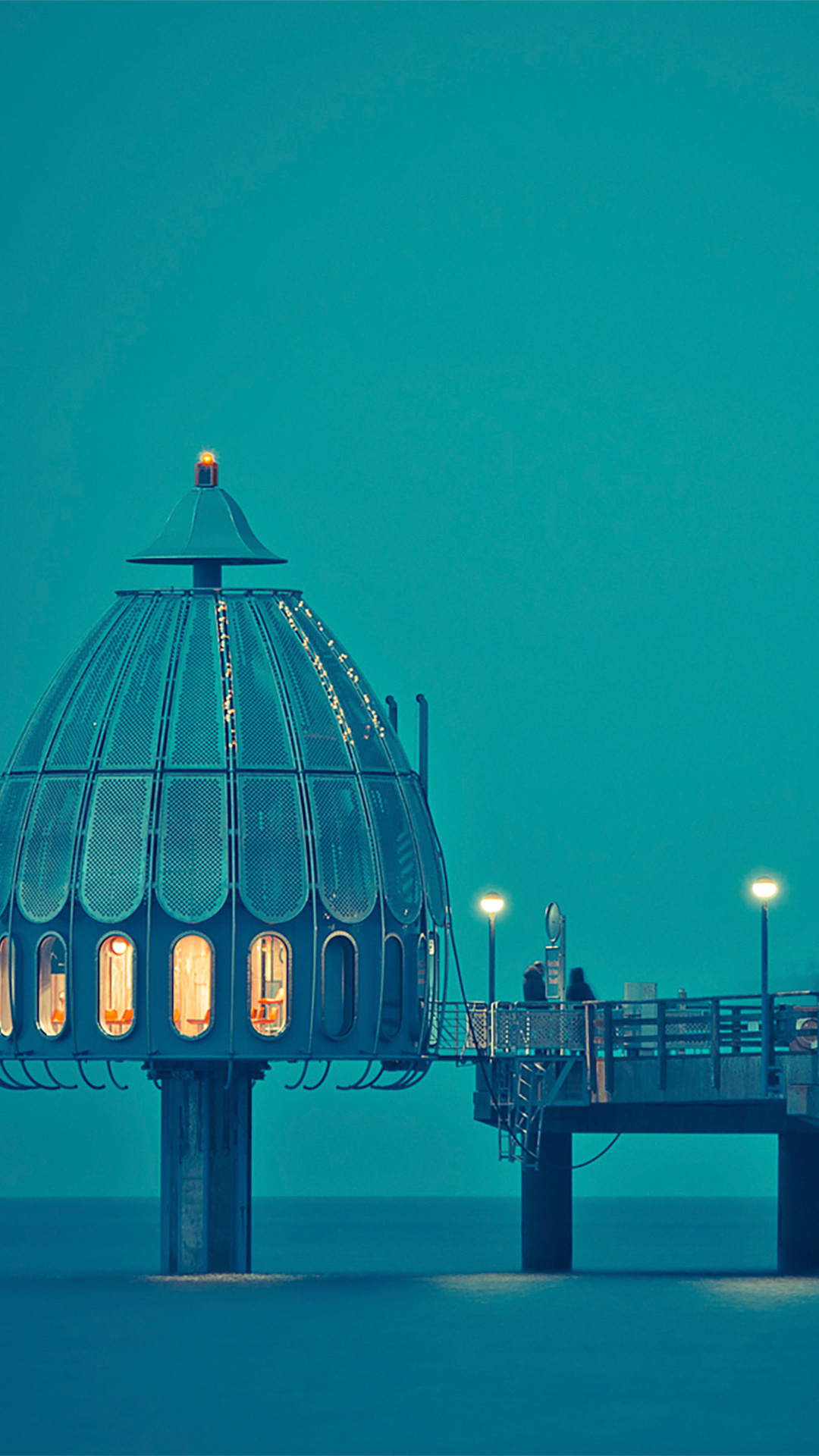 Free Diving Bell Off A Dock In Zingst, Germany phone wallpaper by zombozo