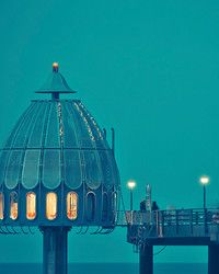 Diving Bell Off A Dock In Zingst, Germany