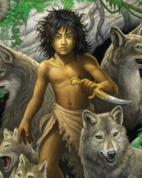 Mowgli Jungle Book Vintage Art