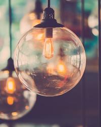 Vintage Light Bulb Art