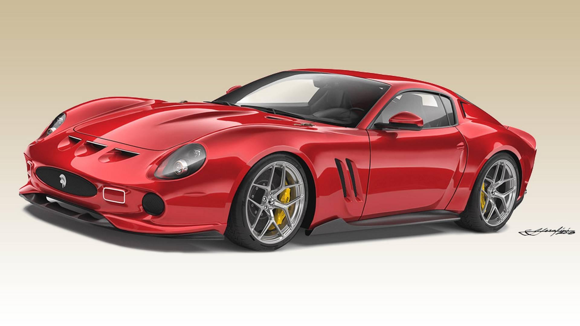 Free Ares Design Ferrari 250 GTO Design Concept phone wallpaper by zombozo