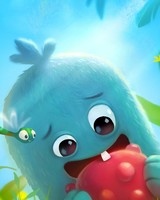 Cute Baby Monster First Tooth Illustration