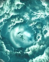 Flying Girl Clouds Dream